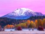 Sunrise At Mount Adams