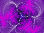 purple fractal white threads