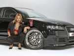 Model with an Audi