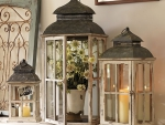 Beautiful decor with old lanterns