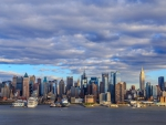 Clouds over New York City Skyline