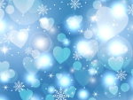 Snowflakes and Hearts Blues