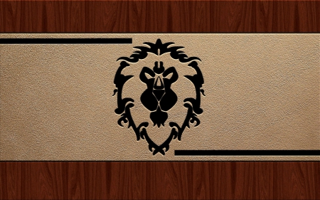 Alliance emblem in relief - world of warcraft, emblem, game, faction, alliance, leather, horde, wow, wood