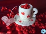 Cup of Red Hearts