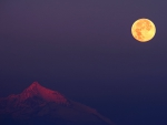 The Alps in the light of full moon