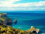 Sea Cliffs and Blue Sea