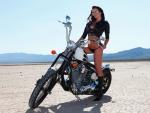 Bikini Model with Chopper
