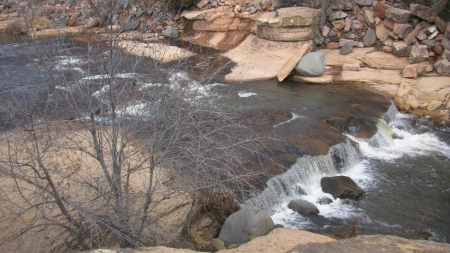 Sedona, Arizona (Slide Rock) - Water, Slide, Tree, Sedona, Rocks, Arizona, Nature