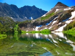 Chocolate peak and Bull lake