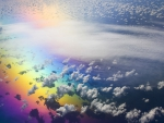 Aerial View Of Rainbow