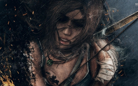 Lara Croft - tomb, art, fantasy, girl, Lara Croft, game, raider, woman