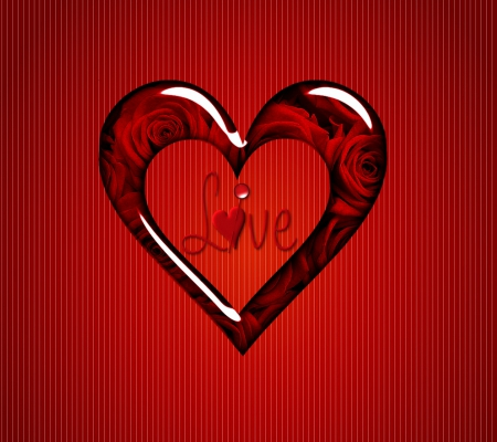 Beautiful red love heart - valentine heart, love heart, colourful love, beautiful love