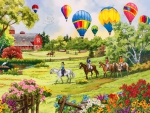 Balloons over the meadow