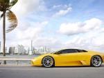 Lamborghini at the Beach