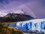 Rainbow Over The Glacier
