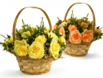 Flowers in Wicker Basket