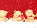 Snowy Valentine Bears