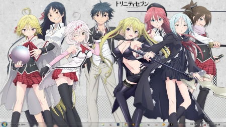 Trinity Seven Ah My Goddess Anime Background Wallpapers