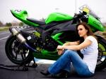Kawasaki Racing and Shelina Moreda