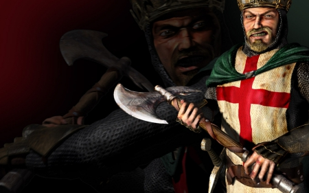 stronghold crusader - stronghold, axe, crusader, knight
