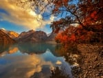 Autumn Touch In The Mountain Lake