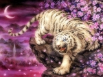 Tiger in Blossoms