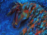 'Blue abstract horse'.....