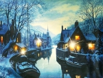 'Peaceful winter's night'.....