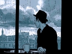 *Overlooking the rain*