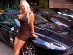 blonde with british cars