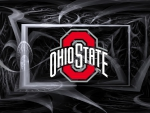 OHIO STATE LOGO ON AN ABSTRACT