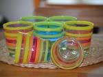 Rainbow coloured glasses