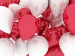 Red and white ballons