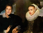 Angelina and Brad Renaissance Portrait