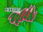 Minnesota Wild Cracked glass,Script