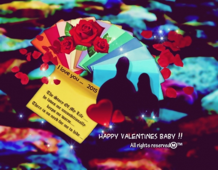 Valentines Day Love To You - red, moments, her, life, couples, colors, roses, hearts, expressions, memories, him, love