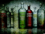 absolut vodka bottles