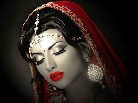 indian bride - pretty, models, babes, indian, bride, beautiful, creation, sexy, cute, nice, effects, attractive, hot, desktop, girls