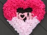 Valentine's Heart Door Wreath