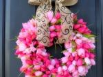 Valentine's Wreath Tulips