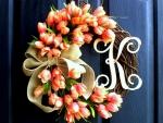 Valentine's Peaches Wreath