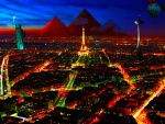 special city in night