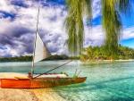 Boat on a Desert Island