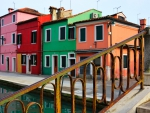 Colorful Houses in Venice, Italy