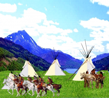 People of the Horses 3 - mountain, warriors, Native, horses, 2015