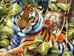 Tiger with Cub