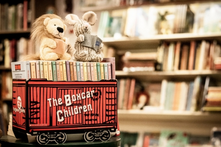 *Vintage childrens books* - rabbit, books, book, box, bookcase, childrens, lion, childrens toys, library, vintage