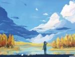 autumn scene painting