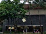 Apple shop Waikiki Beach, Hawaii