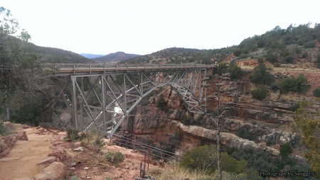 Sedona, Arizona - Water, Sky, Bridge, Mountain, Sedona, Rocks, Arizona
